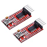 IZOKEE 2pcs 3.3V 5V FT232RL FTDI USB To TTL Serial Converter Adapter Module for Arduino Mini Port