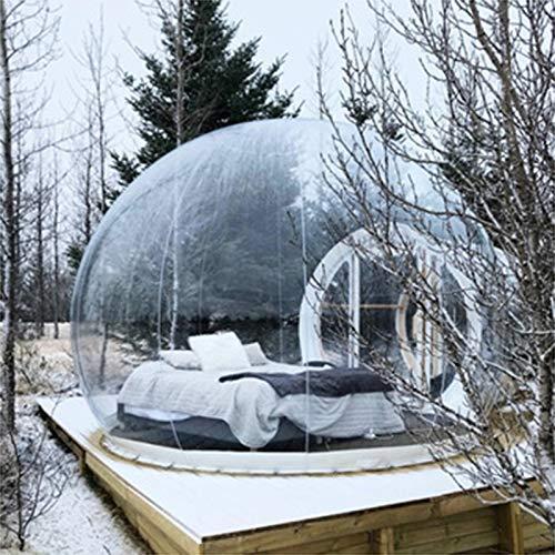 ESACLM Aufblasbares Blasenzelt im Freien mit Einem Tunnel Gewächshaus Pavillon Baldachin Camping Hinterhof Transparentes Zelt Großes übergroßes Wettergehäuse