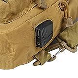 Jacksing Bolso Bandolera, práctico Bolso Bandolera para Llevar en el Pecho, para IR de excursión y Acampar(Mud Color)