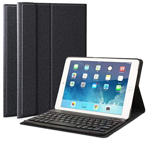 Feelkaeu Hülle mit Tastatur Bluetooth Tastatur pad Hülle für Pad 2018 Pad 2017 Pad Pro 9.7