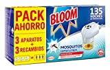 Bloom Insecticida Doble Eficacia Electrico Líquido para mosquitos común y tigre - 3 Aparatos + 3 Recambios
