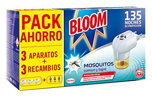 Bloom Electrico Líquido contra mosquitos común y tigre 3 Aparatos + 3...