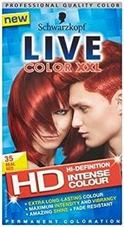 シュワルツコフライブカラーXxl Hd 35本物の赤いパーマネントレッドヘアダイ (Schwarzkopf) (x2) - Schwarzkopf LIVE Color XXL HD 35 Real Red Permanent Red Hair Dye (Pack of 2) [並行輸入品]