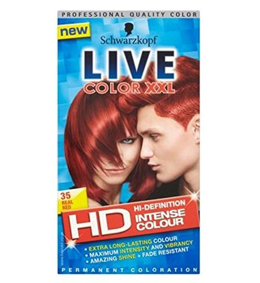 テラス通貨厚さシュワルツコフライブカラーXxl Hd 35本物の赤いパーマネントレッドヘアダイ (Schwarzkopf) (x2) - Schwarzkopf LIVE Color XXL HD 35 Real Red Permanent Red Hair Dye (Pack of 2) [並行輸入品]
