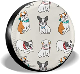 Chawzie Puppy Dog Sweet Pet Fashion Decor Custom Tire Cover Multi Tire Cover Tire Cover Waterproof Uv Sun 14 - 17 Fit for Jeep Trailer Rv SUV and Many Vehicle