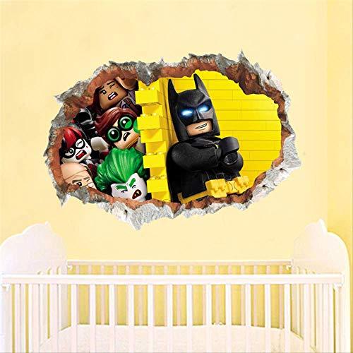 Batman Super Heros Avengers Wandaufkleber Kinderzimmer Dekoration 3d Cartoon Movie Wandbild Kunst Diy Abziehbilder Poster Jungen Geschenk