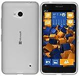 mumbi Hülle kompatibel mit Microsoft Lumia 640 Handy Hülle Handyhülle, transparent Weiss