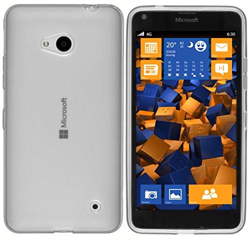mumbi Funda Compatible con Microsoft Lumia 640 Caja del teléfono móvil, Blanco Transparente