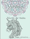 Mandalas - Mundo de Hadas - Ada - Unicornio ...: No transferencia de color - 1 página negro entre...