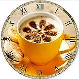 Pintura De Diamante Reloj De Pared 5D Diy Punto De Café Cruzado Reloj De Dibujos Animados Patrón Reloj Diamante Patrón De Mosaico,40X40cm