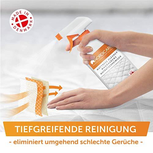 Nordicare Limpiador de Colchones [500ml] Spray para Colchones y Ropa de Cama, Limpiador de Colchones, Limpiador de Cama, Limpiador de Olor de Colchones