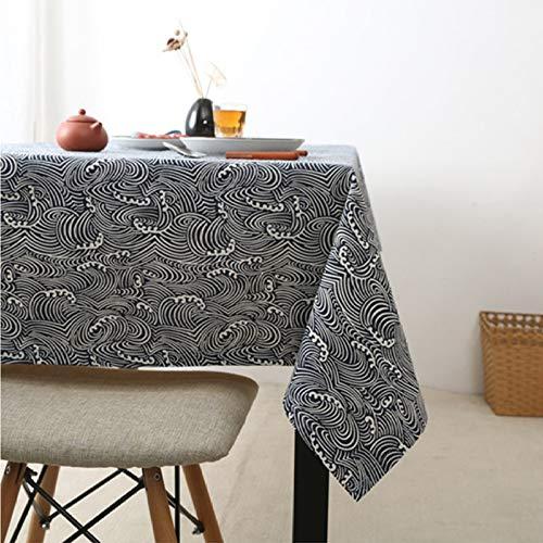 PhantasyIsland.com Mantel antiincrustante Mantel Rectangular, Mantel para Cocina o salón Mantel Mantel para Interior y Exterior Mantel Impermeable Lavable