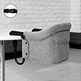 YXLONG Clip-On Hochstuhl Tragbarer Tisch Seitlicher Essstuhl Baby-Essstuhl Kinder-Essstuhl Klapptisch Hochstuhl Tisch Baby-Sitz,Gray