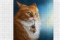 LHJOY 大人のための珍しいジグソーパズル500個猫のマウスチーズウォッチング動物誕生日プレゼントと子供向けホリデーギフト 52x38cm