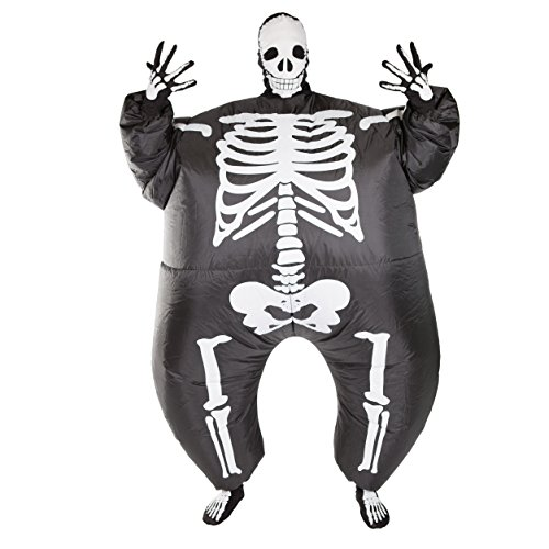 Halloween Skeleton Full Body Inflatable Costume for Adults (One Size)