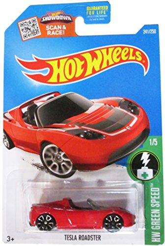 Hot Wheels 2016 H.W. Green Speed Tesla Roadster Red 241/250