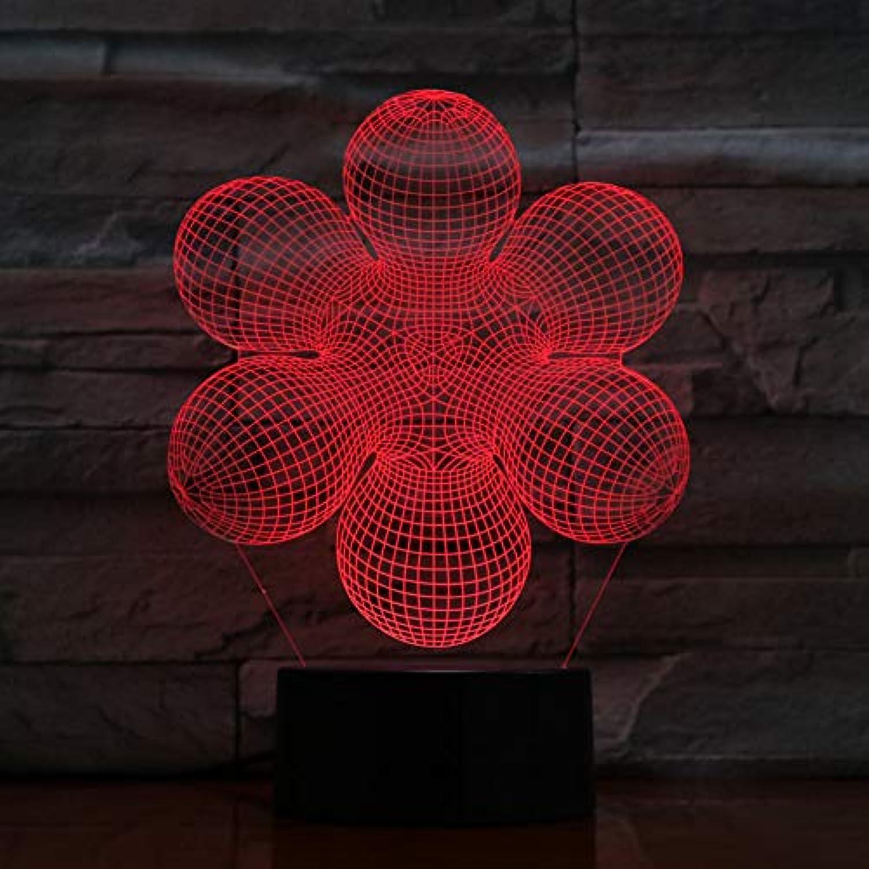 Laofan Baby Nightlight 3D Led Dekor Lampe 7 Farben ndern Touch-Schalter USB,Vernderbar