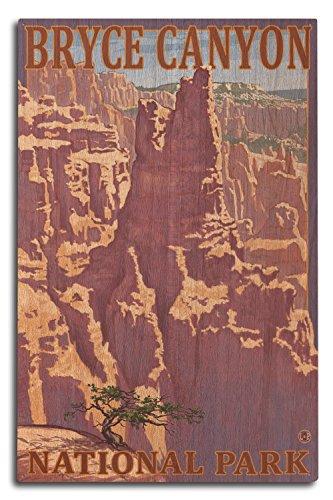 Lantern Press Bryce Canyon National Park, Utah - Scene #1 (10x15 Wood Wall Sign, Wall Decor Ready to Hang)