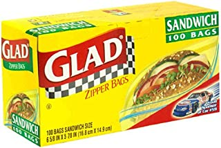 Glad Zipper Sandwich Bags - 100Bags.