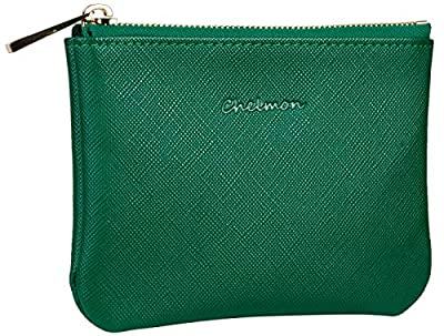 Chelmon Genuine Leather Coin Purse Pouch Change Purse With Zipper For Men Women (CH Green)