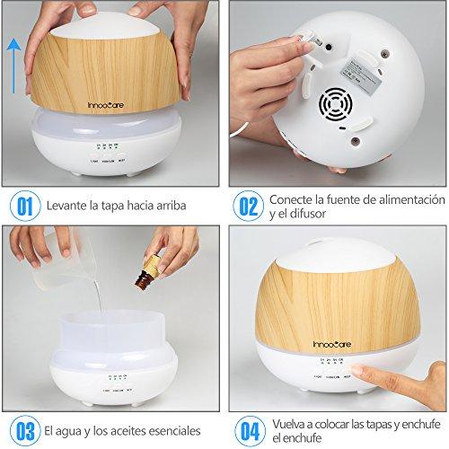 InnooCare 500ml Humidificador Ultrasónico Aromaterapia...