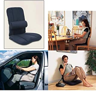 BETTERBACK Deluxe Back Care System-Provides Lumbar Support & Reduces Back, Hip, Tailbone, Coccyx & Sciatica Pain-Made from Foam–Ergonomic Design Helps Improve Posture to Prevent Slouching