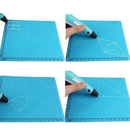 Motto.H Figure Copy DIY Estera de Silicona para impresión en 3D Dibujo y diseño de la Pluma Plantilla de lápiz de impresión 3D para Plantillas de Dibujo 3D, para niños y Adultos Noble