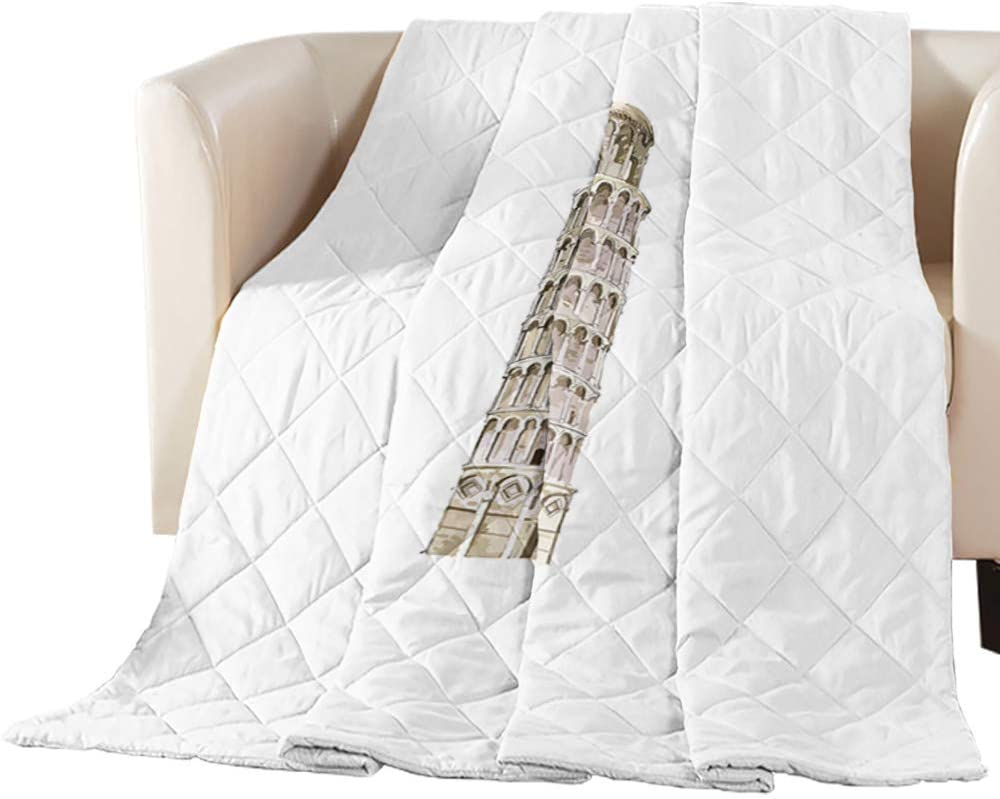 EZON-CH Torre pendente di List price Pisa Breathable Choice White Coverlet Pattern