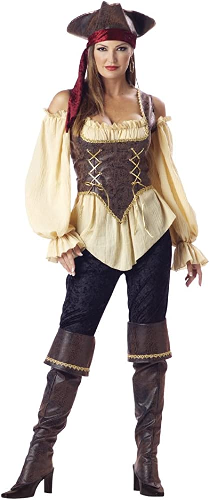 InCharacter Women's Rustic Japan's largest assortment Pirate Cheap super special price Lady Costume Wench Deluxe Larg
