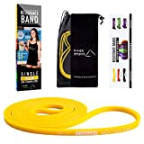 Ryher Fitness Pull Up Resistance Band - Exercise Bands for Crossfit, Chin Up Assistance, Elastic Band for Powerlifting, Streching (Individual #1 Yellow - from 5 to 15 lbs)
