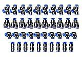 HUAZIZ 40 Piezas Conexiones Neumáticas Enchufe Rapido Neumatico Conectores Manguera Neumática Push Connector 4 Tipos Herramientas Neumáticas para la Conexión de Tuberías Aire (4mm) PY4 ,PU4 ,PE4 ,PV4