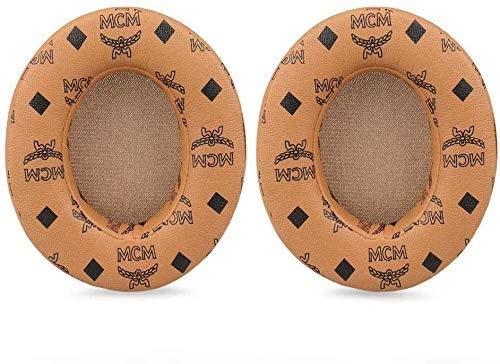 Ear Pads Replaceable Ear Pads Earmuffs Ear pad Repair Parts are Compatible with Dr. Dre Studio 2.0 Studio 3 B0500 B0501 Wired and Wireless Headphones(Floral Brown)