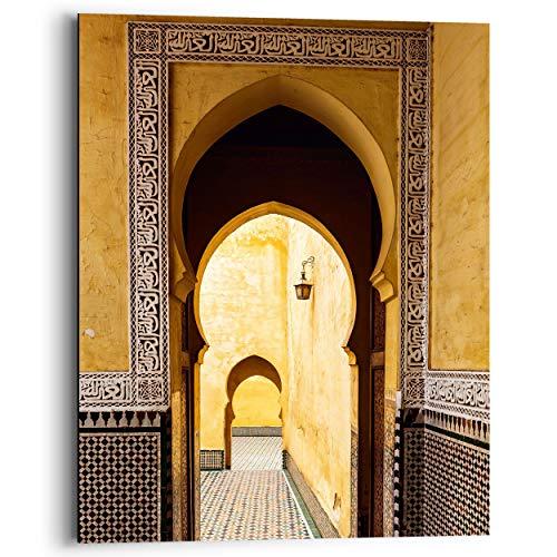 Schilderij Deco Panel Mediterraanse poort Oosters - Gebouw - Fotografie - Oker - 40 x 50 cm