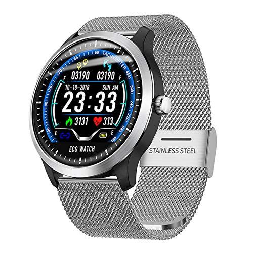 LHL Smart Watch, N58, New Men's ECG, RECORDATORIO DE MEDICAMENTO DE SMARTOS RECORDATORIO Calorie Reloj DE Paso DE Calorie para Android iOS,C