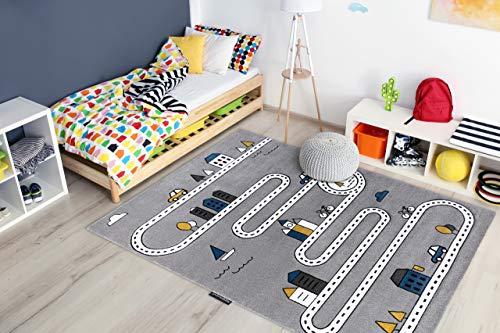 Tapis enfant Petit pour chambre de bébé, tapis de jeux, chambres d'enfants, Rue, rues gris 280x370 cm