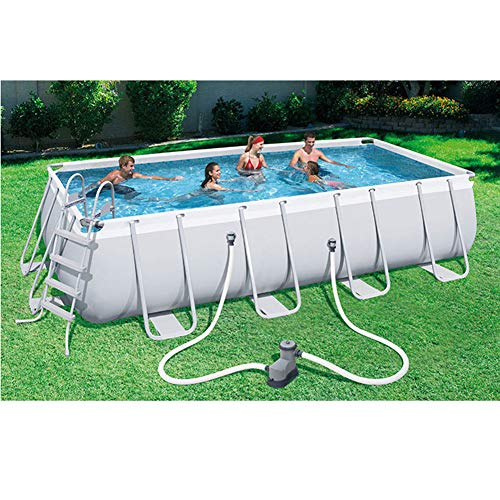 Ylight 159' X 79' X 39.5' Above Ground Swimming Pool Set Square Metal Frame Pool,with Pump