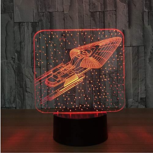 Nouveauté 7 Changement De Couleur 3D Coloré Star Trek Lampe Led Atmosphère Atmosphère Lumière Chambre Décor Chevet Bébé Sommeil Nightlight Cadeaux