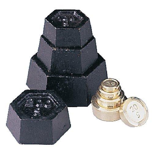 WIN-WARE Juego de pesas métricas para balanzas, calibración o escalas mecánicas digitales. Consta de: 500 g, 2 x 200g, 100g en hierro, y 50 g, 2 x 20 g, 10 g, 5 g de latón. Ideal para su uso con las e