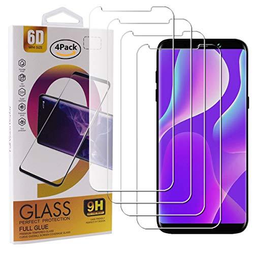 Guran 4 Paquete Cristal Templado Protector de Pantalla para Bluboo S8+ / Bluboo S8 Plus Smartphone 9H Dureza Anti-Ara?azos Alta Definicion Transparente Película