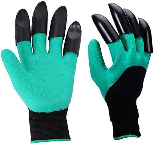 Garten Handschuhe mit 8 Graben Fingerspitzen Krallen Gartengerät Schutz Handschuhe für Jäten Aussaat Kommissionierung Rose Beschneidung