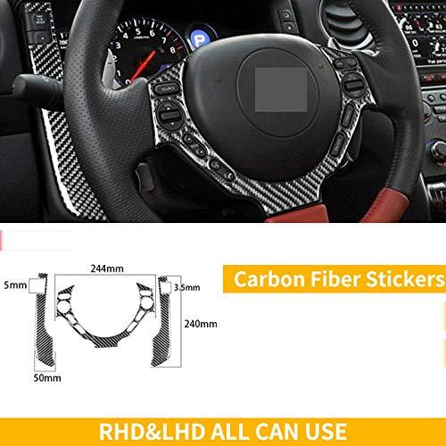 Wcnsxs Für Nissan GTR R35 2008-2016 Kohlefaser Innenaufkleber Lenkrad Tachometer CD-Gangschaltung Entlüftung Autozubehör