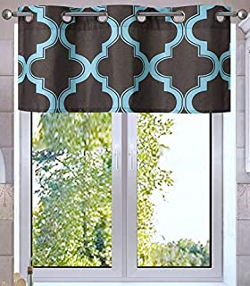 GorgeousHome 1PC Faux Silk Bronze Grommet Lined Small Window Curtain Swag 37