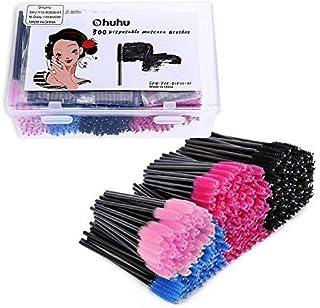 Ohuhu Mascara Brushes 300 Pcs, Disposable Eye Lash Eyebrow Eyelash Brushes Mascara Wands Applicator