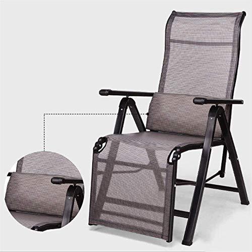 Living Equipment Chaise pliante Home Chaise de bureau inclinable Chaise de sieste Chaise de plage Chaises de bureau Chaises longues Chaise zéro gravité Chaise à bascule (Couleur: Argent Taille: Lar