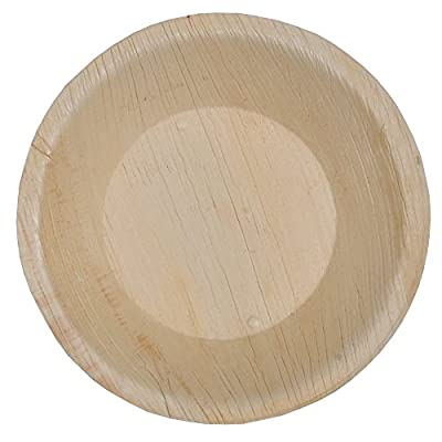 Green Atmos Deep Round Party Pack - Wedding Tea/salad / Dessert/starter / Side Plate Biodegradable, Compostable And Eco-friendly Disposable Areca Palm Leaf Plates