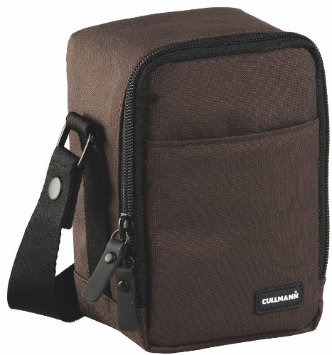 Cullmann BERLIN Vario 200 brown, bag for compact or CSC cameras e.g. CANON PowerShot G1 X Mark II or SONY Alpha 6000 / 6300 with lens SELP1650E (depth 75mm) attached or for camcorders
