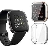 Amial Europe -- Funda compatible con Fitbit Versa 2 Protector de pantalla Smartwatch, de TPU Funda blanda [Extra Protección] [Anti-Arañazo] [Ultra Delgada] (Transparente)
