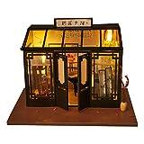youngfate Puppenhaus Mini Holzhaus Miniatur Bausatz Puppenhaus mit Licht Kunsthandwerk Geschenk für...