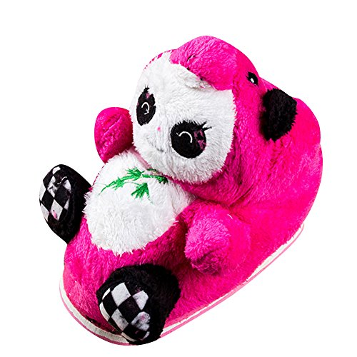 Pantofole Peluche Invernali Animali Unisex Caldo Morbido Imbottito Ciabatte Panda Scarpe Rose 34-39