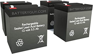 BatteryGuy BGH-1255F2 (Qty of 4) 12V 5.5ah High Rate Rechargeable UPS Backup Battery